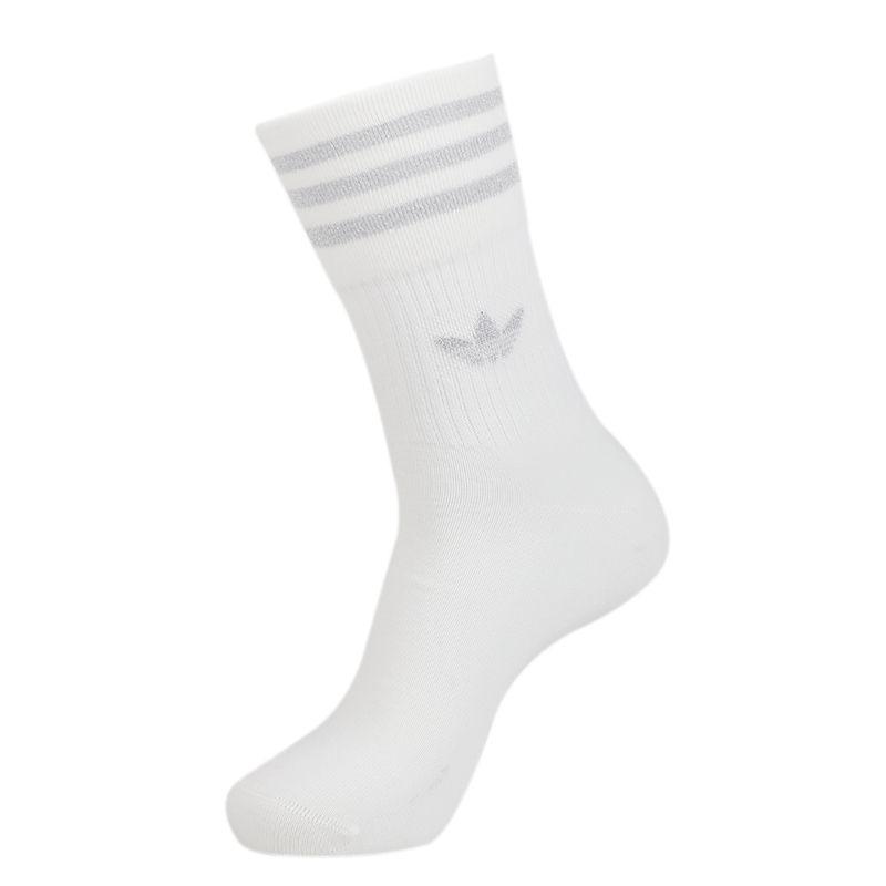 阿迪三叶草adidas MID CUT GLT SCK 女子 运动休闲袜白色中筒袜 FL9686