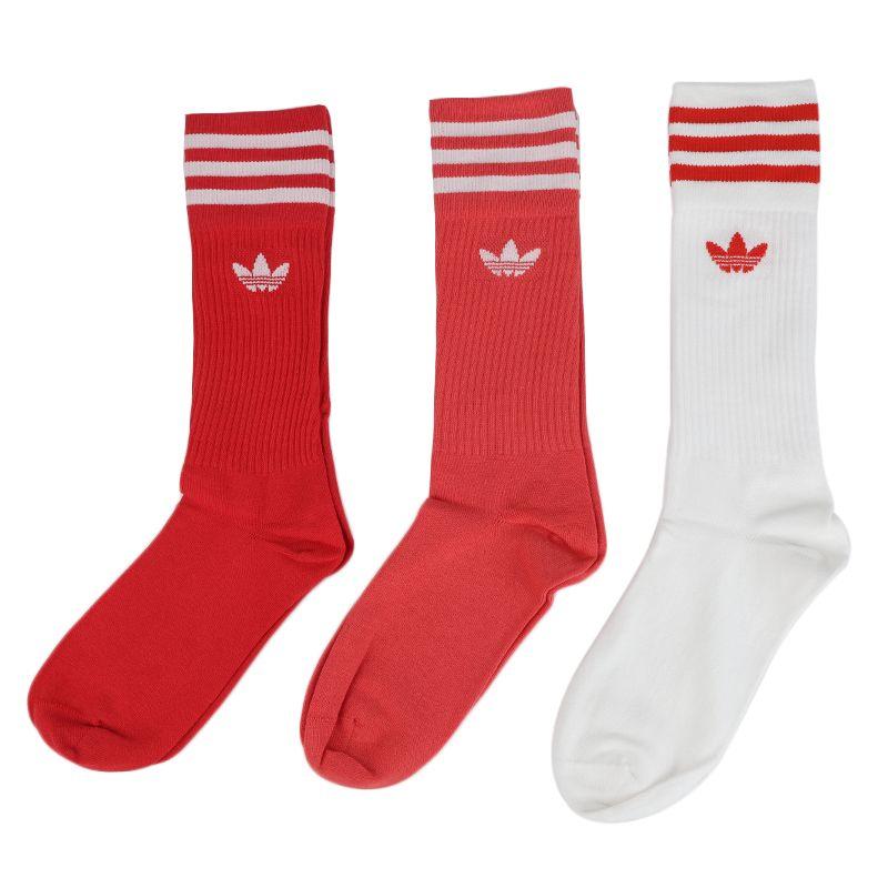 阿迪三叶草adidas SOLID CREW SOCK 男女 运动跑步健身足球袜舒适透气休闲长袜 FM0623