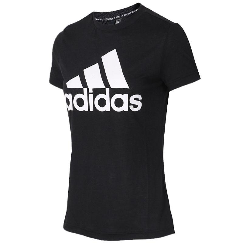 阿迪达斯Adidas  女装  运动休闲透气圆领短袖T恤跑步训练时尚套头衫 DY7732