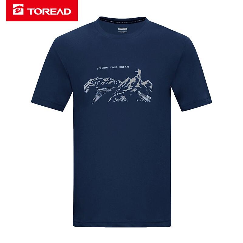 探路者TOREAD 男装 户外运动服耐磨透气休闲短袖T恤 TAJI81963
