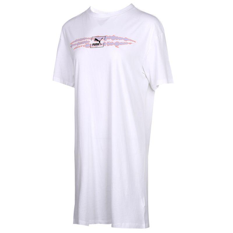 彪马PUMA  女装 休闲运动服透气T恤连衣裙 599429-02