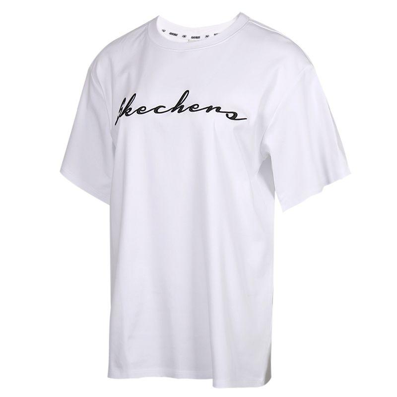 TZ 斯凯奇Skechers 女装 运动跑步透气上衣半袖T恤  L120W143-0019 P220U004-0019 88888001-WBK