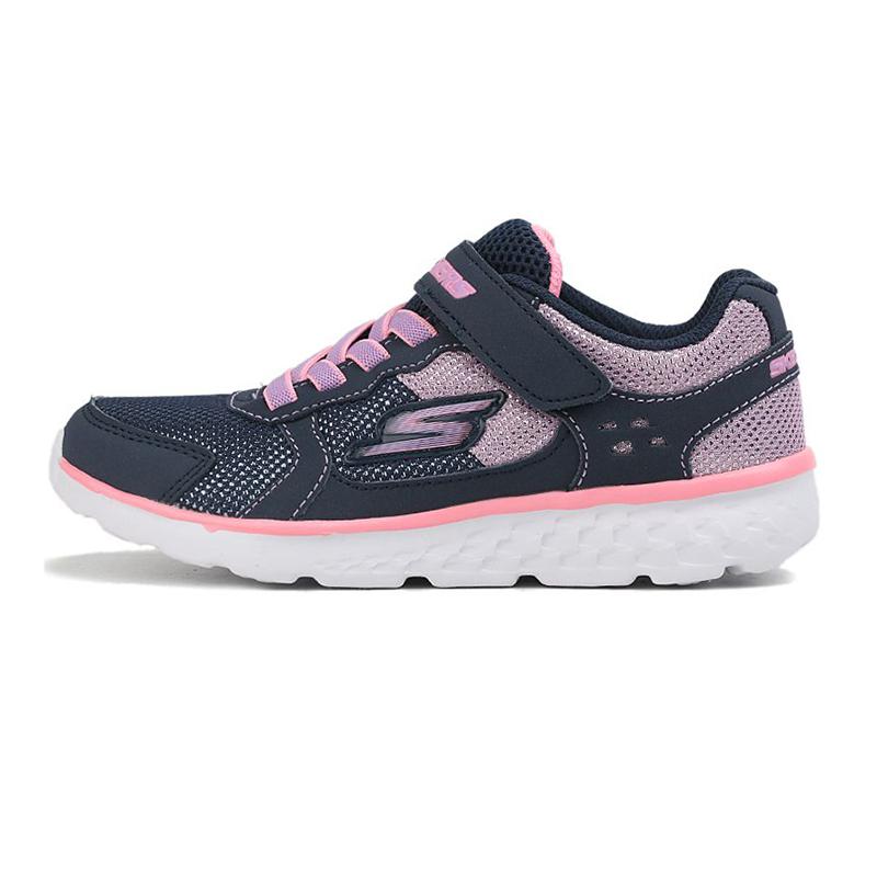 斯凯奇Skechers 童鞋 运动复古时尚耐磨舒适透气休闲鞋 81358L-NVPK