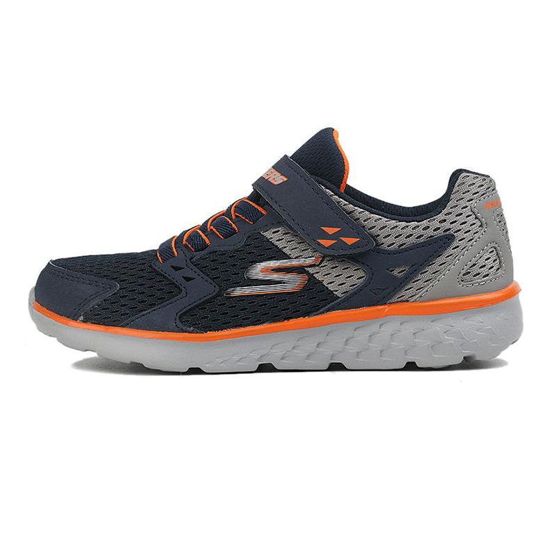 斯凯奇Skechers 童鞋 复古时尚耐磨舒适轻便透气休闲鞋 97680L-NVGY