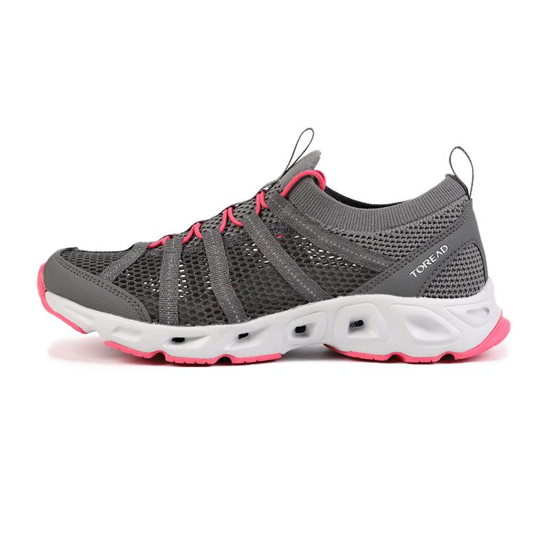 探路者TOREAD 女鞋 户外舒适透气防滑耐磨运动休闲徒步鞋涉水鞋 TFEI82711-G07A