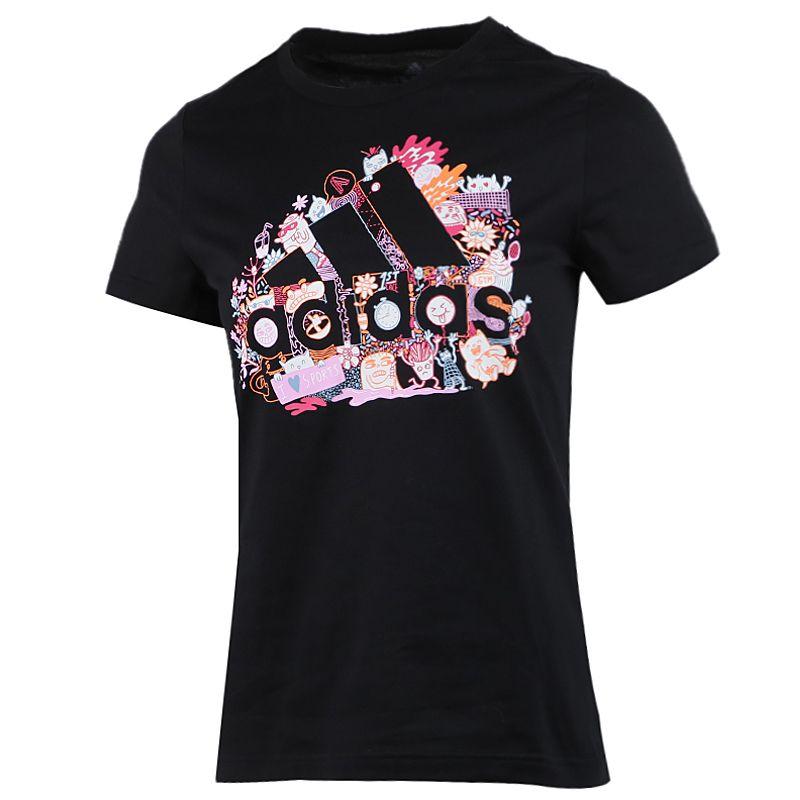 阿迪达斯adidas  MHG BOSIllu T 女装 运动型格舒适休闲短袖T恤 FJ5025