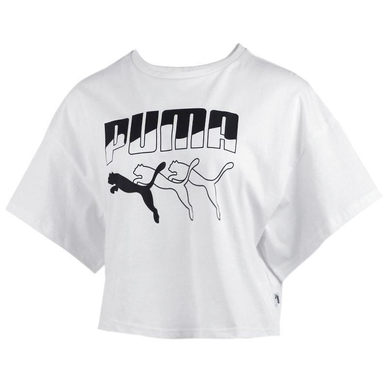 彪马PUMA 女装 运动跑步训练健身快干透气舒适休闲圆领短袖T恤  582808-52