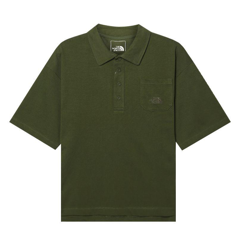 北面TheNorthFace  男装 运动跑步训练透气休闲T恤POLO短袖 498337X