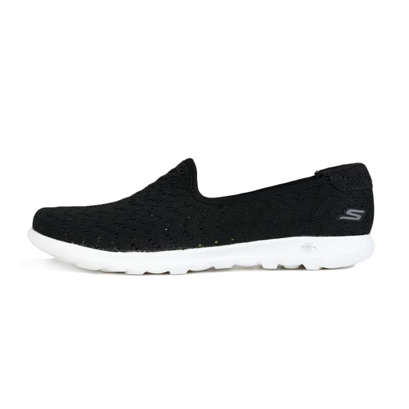 斯凯奇Skechers 女鞋 运动鞋复古时尚耐磨舒适轻便透气板鞋休闲鞋 16370-BKW