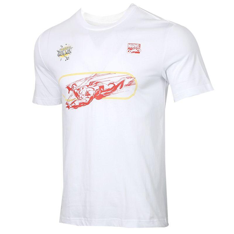 阿迪达斯adidas MARVEL IRON MAN 男装 漫威联名运动跑步训练健身快干透气舒适休闲圆领短袖T恤 FN1763