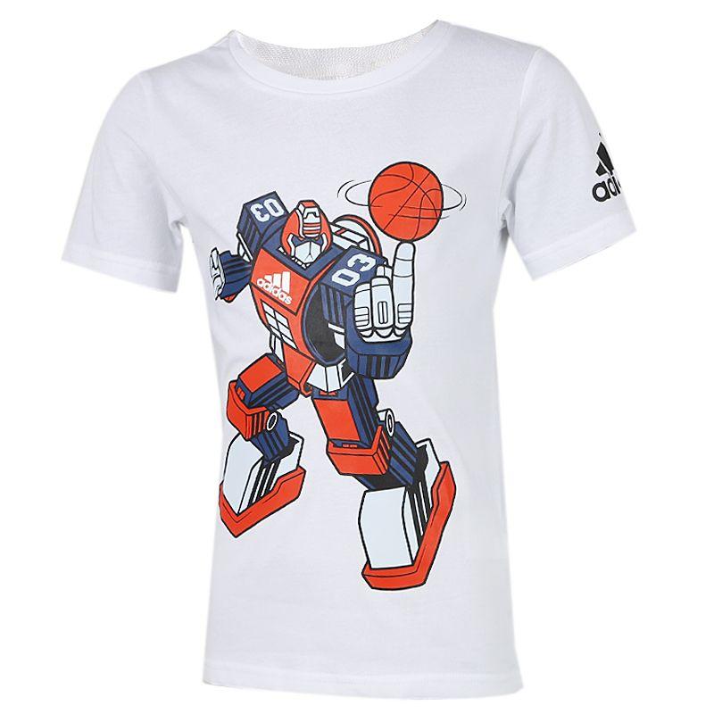 阿迪达斯adidas 儿童 运动跑步训练健身快干透气舒适休闲圆领短袖T恤 GH1489