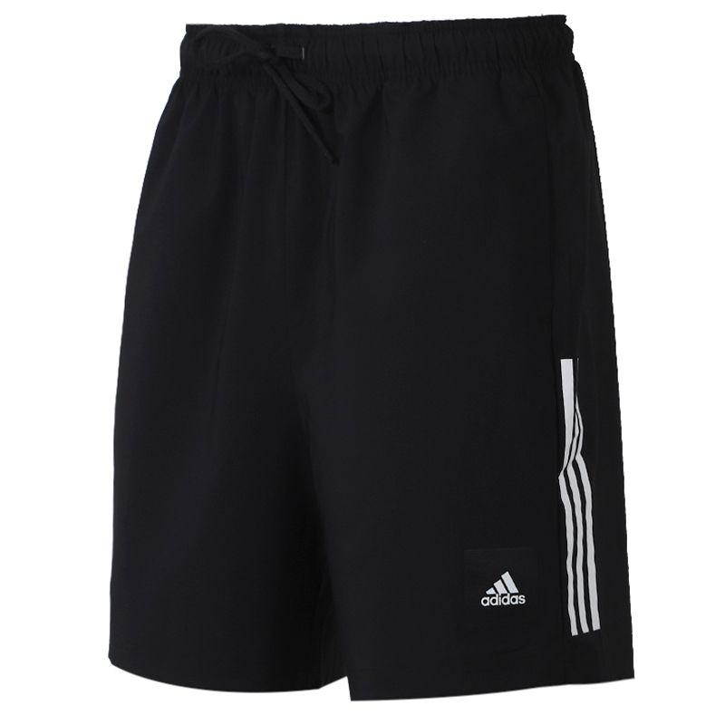 阿迪达斯adidas   男装 运动跑步训练健身舒适快干透气休闲五分梭织短裤 FM6949