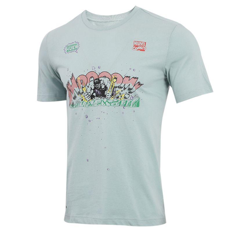 阿迪达斯adidas MARVEL HULK 男装 漫威联名运动跑步训练健身快干透气舒适休闲圆领短袖T恤 FN1762