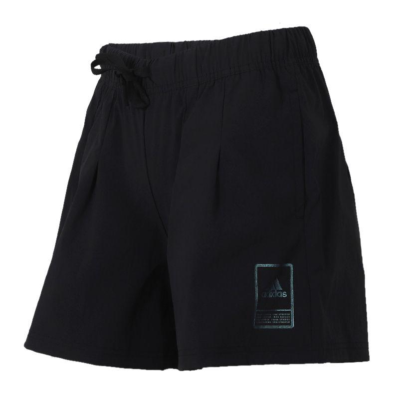 阿迪达斯adidas 女装 运动跑步训练健身舒适快干透气休闲五分短裤 FT2910