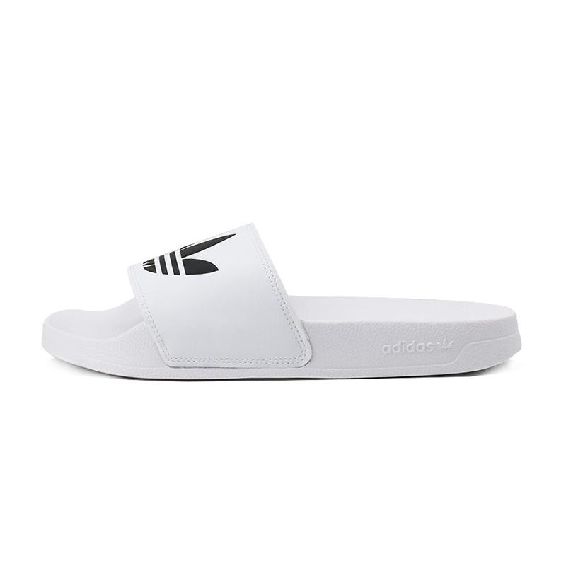 阿迪达斯三叶草adidas  男鞋 时尚运动拖鞋沙滩鞋一字拖户外鞋 FU8297