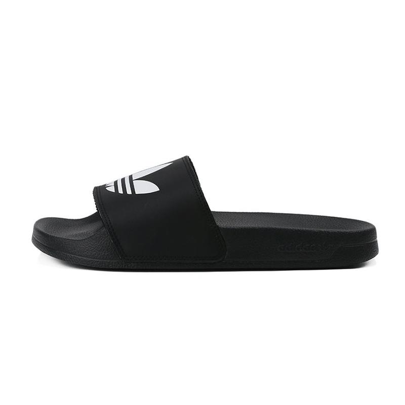 阿迪达斯三叶草adidas  男鞋 时尚运动沙滩一字拖户外鞋 FU8298