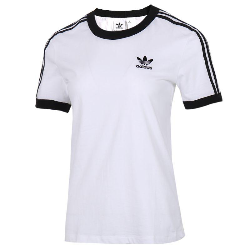 阿迪达斯三叶草Adidas 女装 宽松半袖T恤运透气动上衣短袖T恤 ED7483