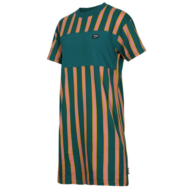 彪马 PUMA  女子 运动休闲透气时尚短袖长款T恤连衣裙 596007-34