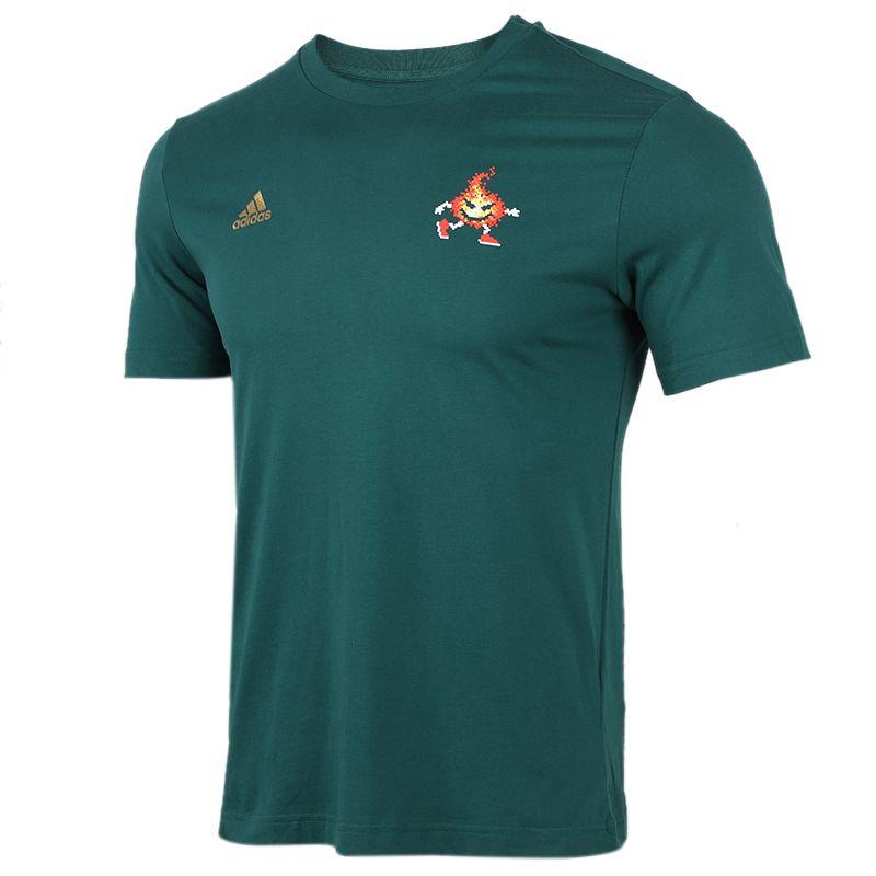 阿迪达斯adidas 男装 运动健身跑步舒适透气短袖T恤 FN1756