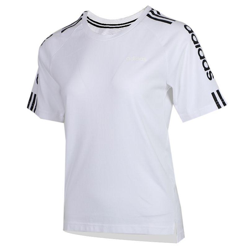 阿迪生活Adidas NEO ESNTL 3S T 女装 运动跑步训练健身快干透气舒适休闲圆领短袖T恤 FP7480