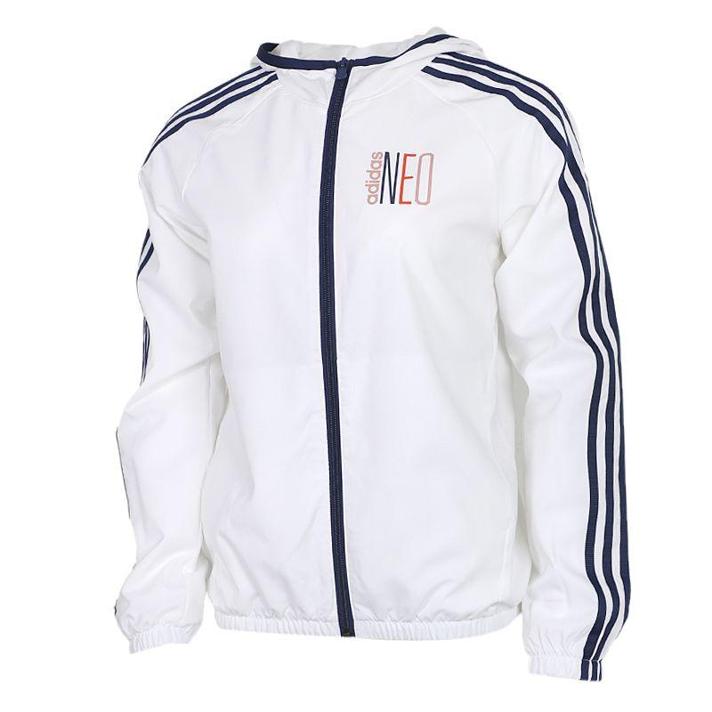 阿迪达斯adidas 女装 运动跑步训练健身透气舒适防风快干休闲外套夹克 GK1509