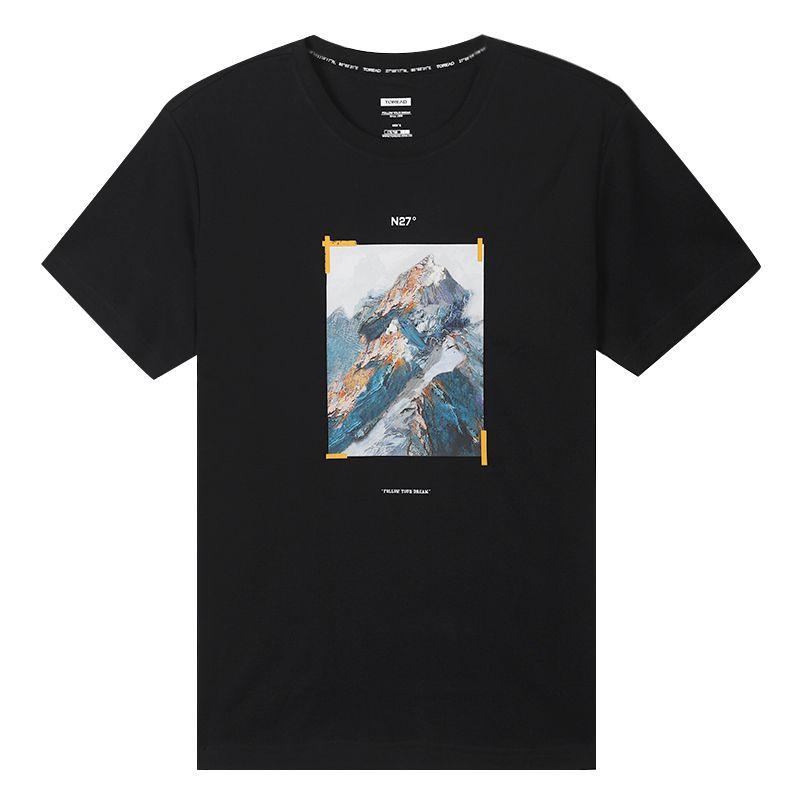 探路者 TOREAD 男装 运动登山训练健身棉质透气舒适休闲圆领短袖T恤 TAJI81833-G01X