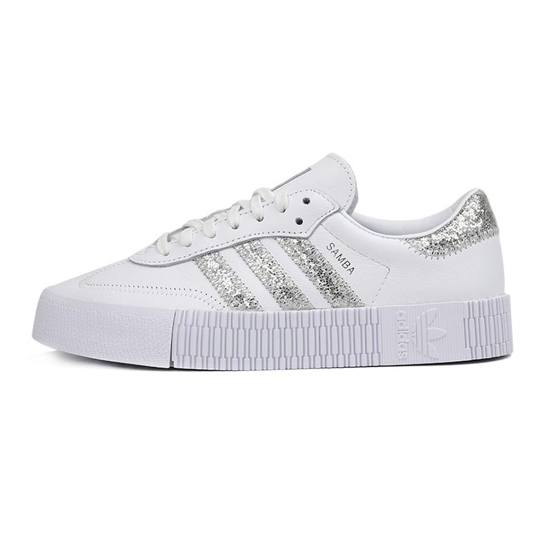 阿迪达斯三叶草Adidas 女鞋 运动复古时尚小白鞋缓震耐磨舒适透气轻便学生板鞋休闲鞋 FX3819