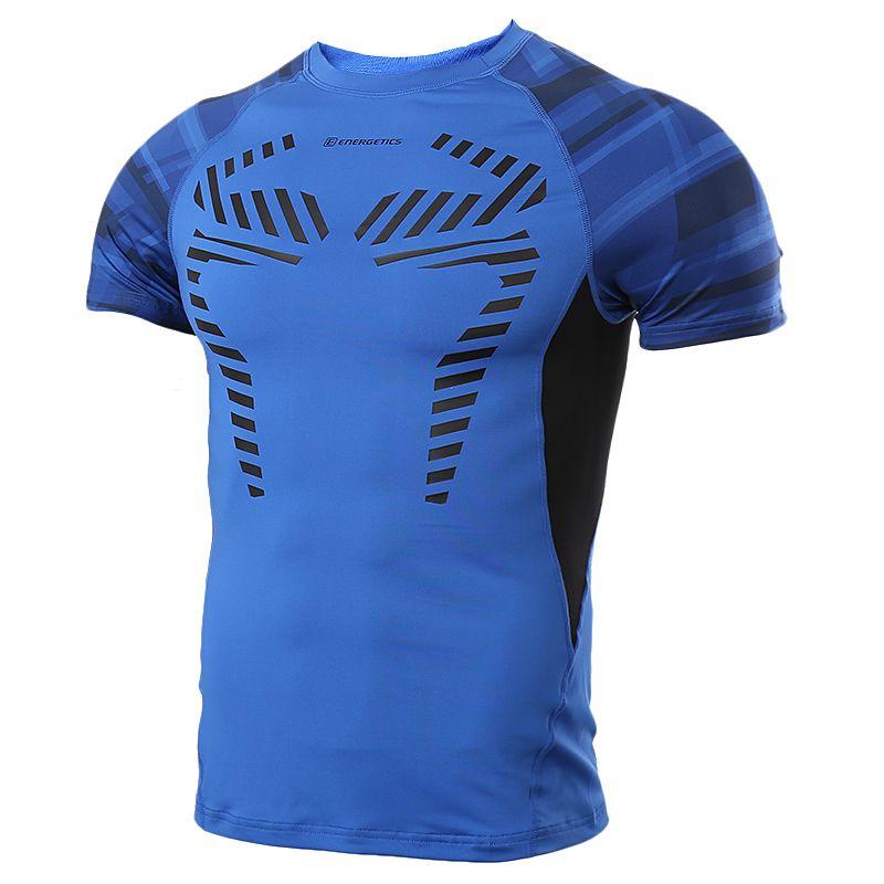 ENERGETICS 男装  运动训练紧身衣休闲透气短袖T恤 266862-523