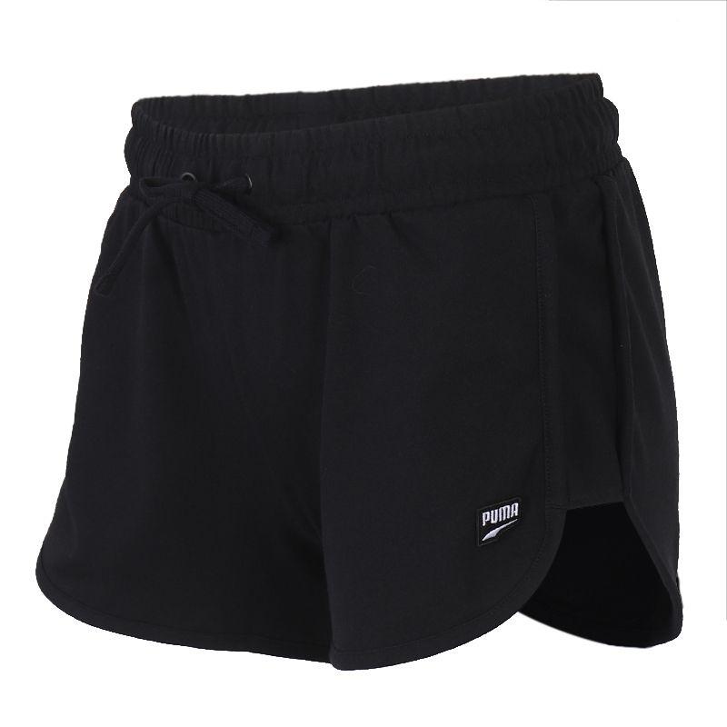 彪马PUMA 女装 运动裤跑步训练健身舒适透气休闲五分裤针织短裤 597478-01