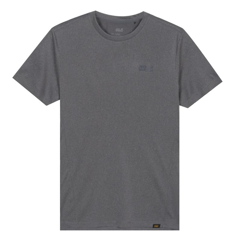 狼爪Jack wolfskin 男装 户外透气干爽吸湿排汗运动休闲短袖T恤 5819192-6505