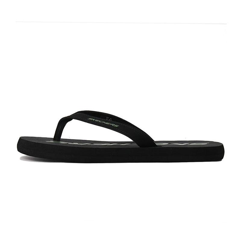 斯凯奇skechers  男鞋 游泳沙滩浴室鞋子透气夹脚人字拖轻质防滑凉拖鞋  8790063-BLK
