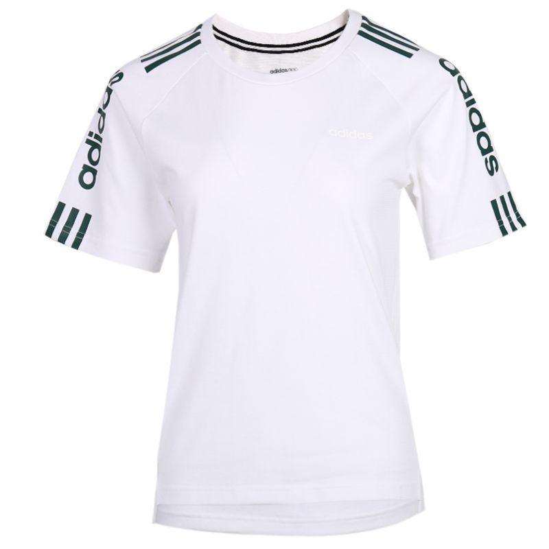 阿迪生活Adidas NEO 女装 运动跑步宽松T恤 FP7456