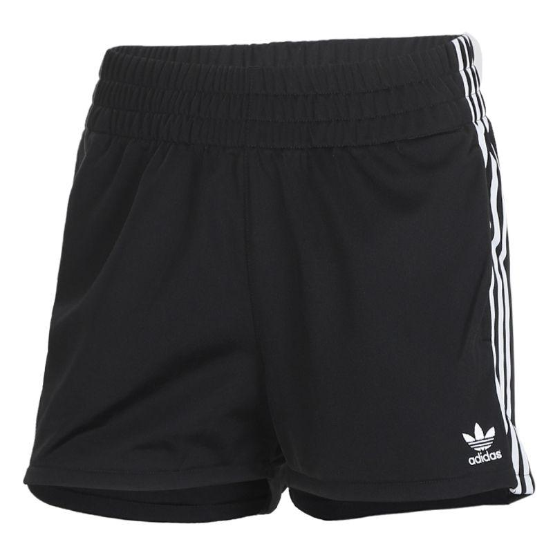 阿迪达斯三叶草adidas 女装 运动裤三条纹五分裤 FM2610