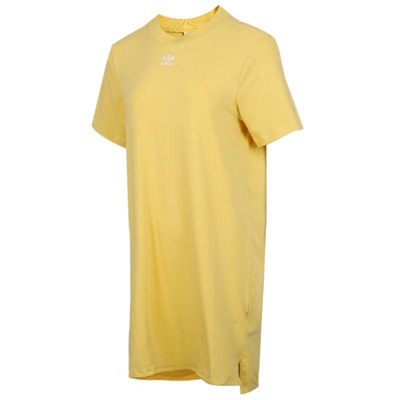 阿迪达斯三叶草adidas TRF DRESS 女装 运动圆领时尚长款宽松休闲T恤裙子连衣裙 FM3277