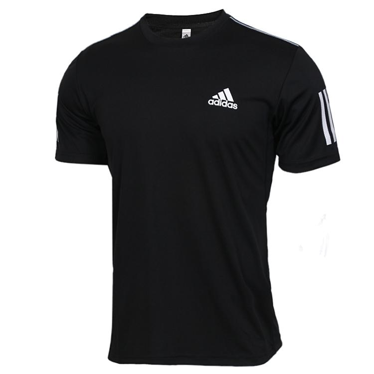 阿迪达斯Adidas CLUB 3STR TEE 男子 跑步训练运动服半袖透气快干排汗休闲T恤 DU0859
