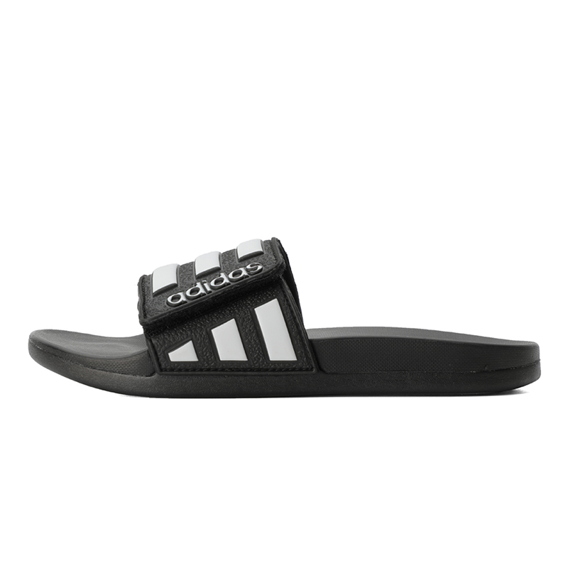 阿迪达斯adidas 儿童 魔术贴平底一字拖运动凉拖鞋 EG1879
