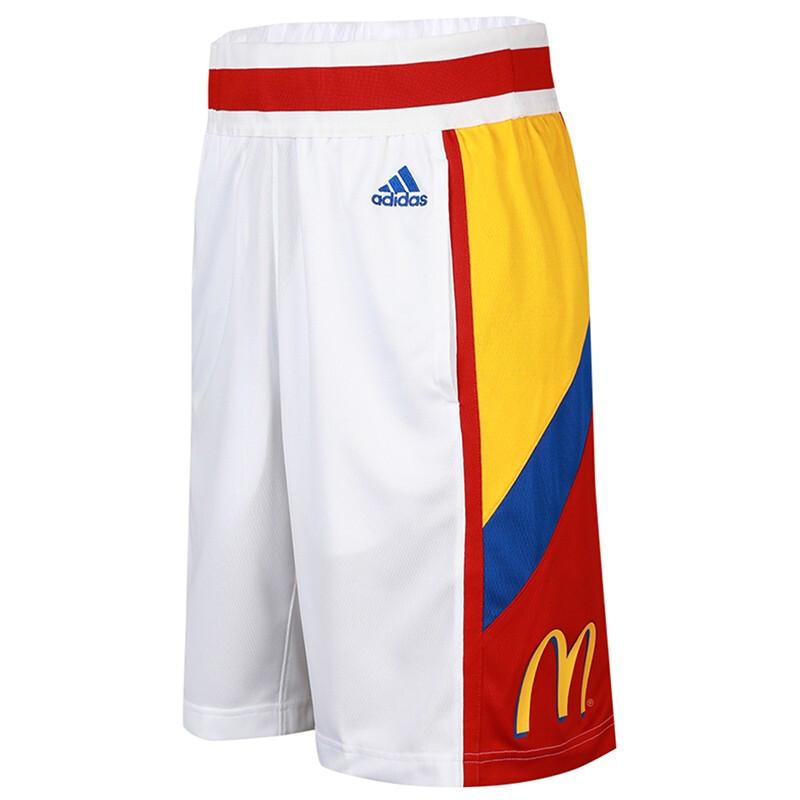 阿迪达斯adidas R MCD SWGM SHR 男装 运动跑步训练健身舒适快干透气休闲五分梭织短裤 GJ0074