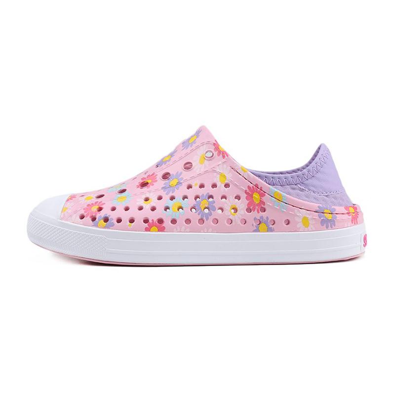 斯凯奇Skechers 儿童 运动鞋沙滩鞋子舒适休闲拖鞋凉鞋洞洞鞋 302114L-PNK
