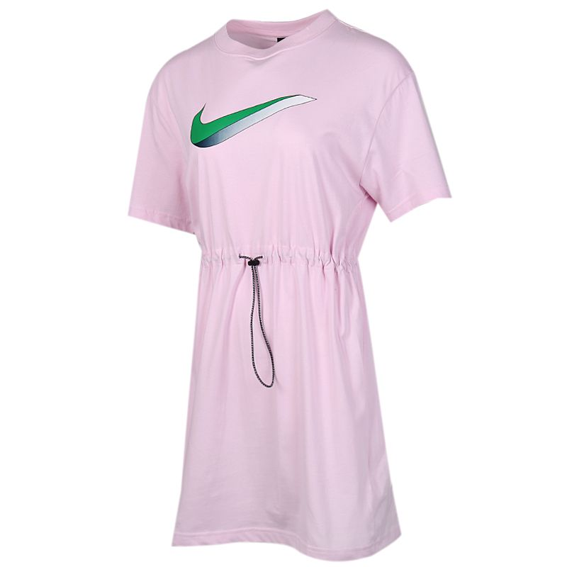 耐克NIKE  NSW ICN CLSH DRESS SS 女装 运动连衣裙半袖宽松T恤 CU5173-663