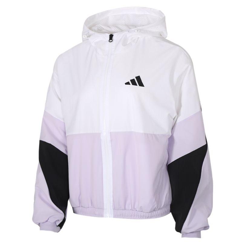 阿迪达斯 adidas 女装 运动服跑步训练健身透气舒适防风快干休闲外套梭织夹克 FM9322