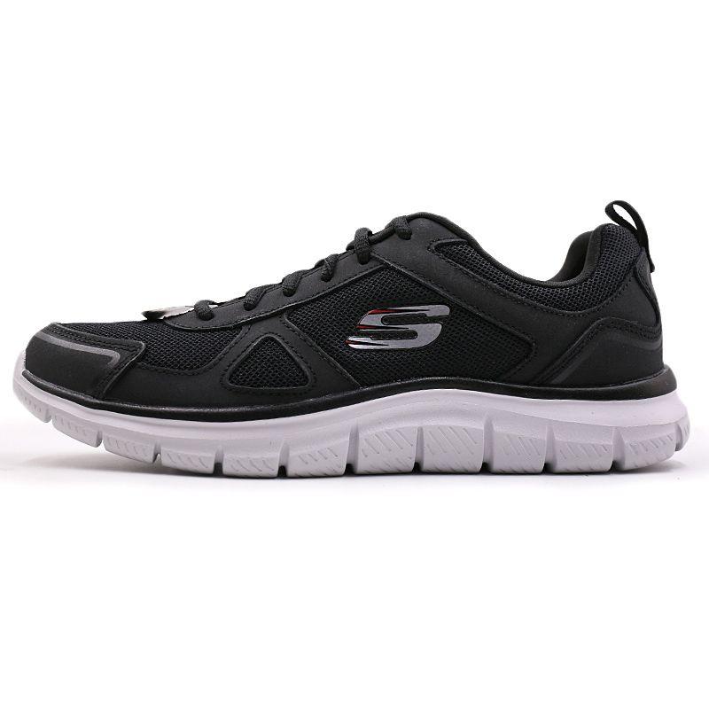 斯凯奇 Skechers 男子 运动透气网布低帮耐磨轻质休闲鞋 52631-BKRD