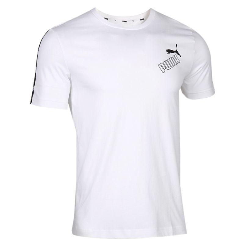 彪马PUMA 男装 运动半袖透气宽松T恤串标 586349-02