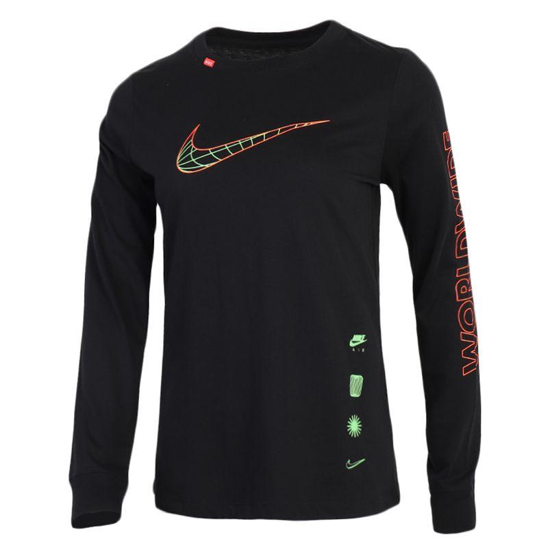 耐克NIKE NSW TEE LS WORLDWIDE 女装 运动休闲舒适透气长袖T恤 CV9174-010