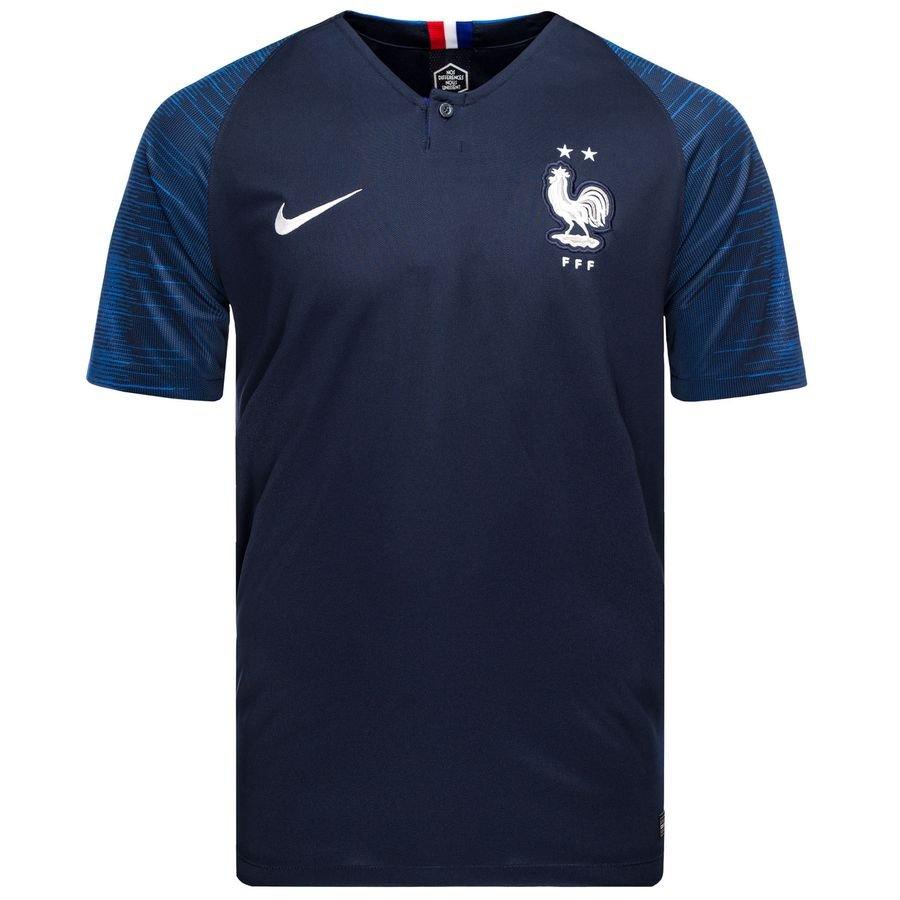 Nike耐克男装 2019春季 舒适透气短袖冠军法国队主场球衣球迷版足球T恤893872-453