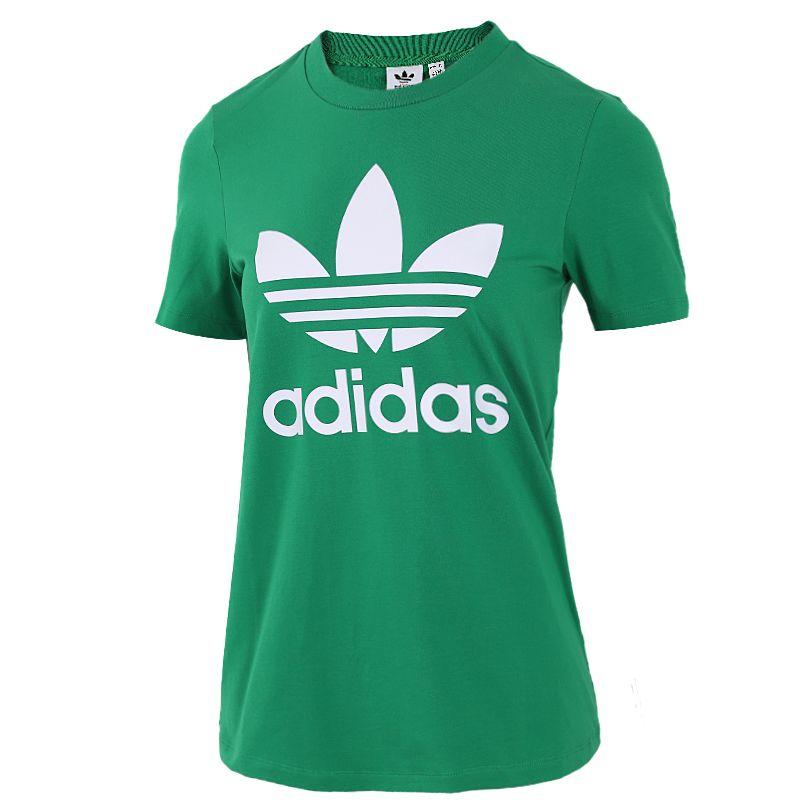 阿迪达斯三叶草ADIDAS 女装 宽松运动半袖透气短袖T恤衫 GI7625