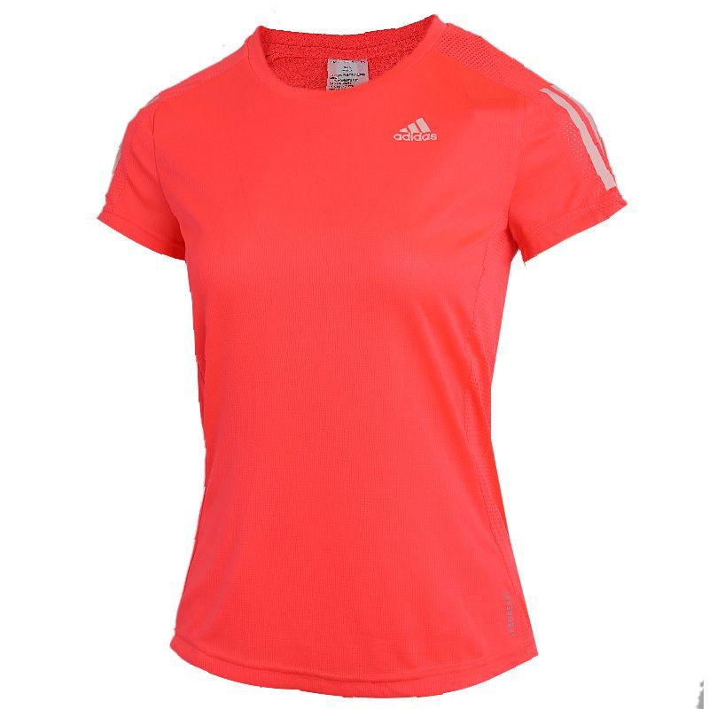 阿迪达斯ADIDAS OWN THE RUN TEE 女装 跑步运动训练T恤 FT2404