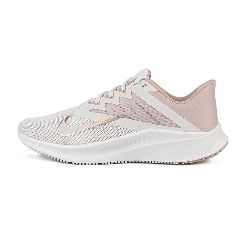 耐克NIKE  女鞋 QUEST 3运动樱花粉跑步鞋 CD0232-003