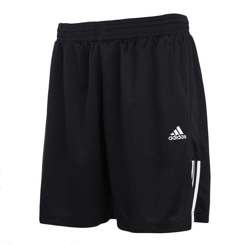 阿迪达斯 Adidas 男裤 运动裤三条纹舒适透气时尚休闲运动短裤快干五分裤D84687