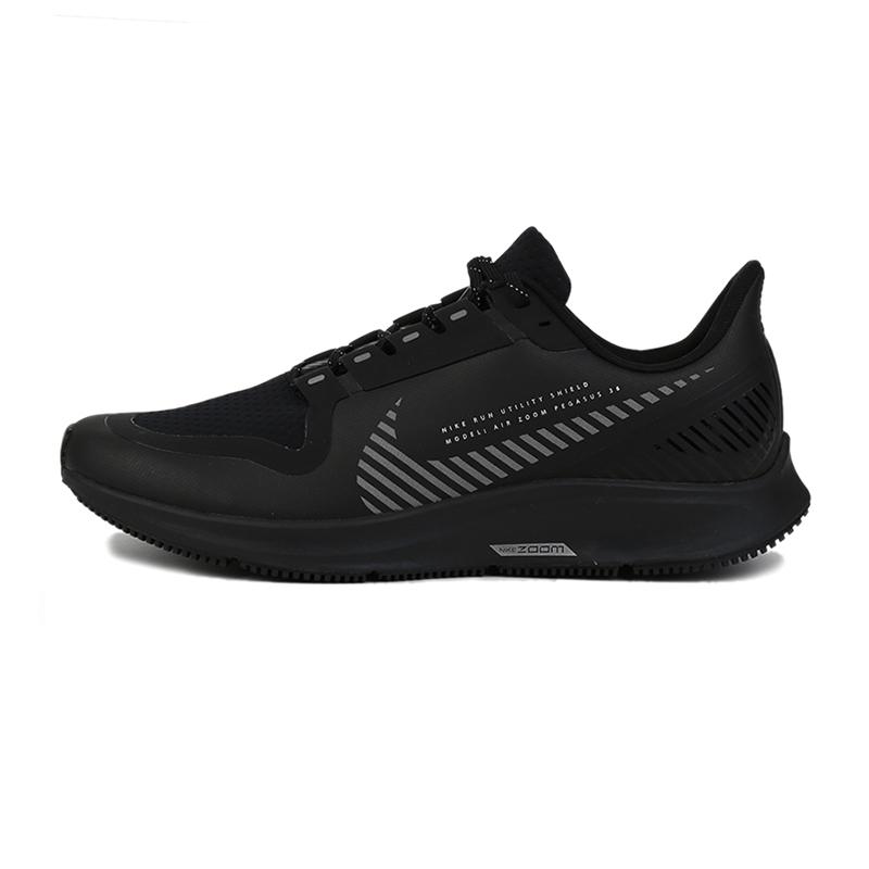 耐克 NIKE AIR ZOOM PEGASUS 36 SHIELD 男鞋 缓震舒适耐磨透气轻便时尚休闲训练跑步鞋 AQ8005-001 偏小 建议购买偏大半码