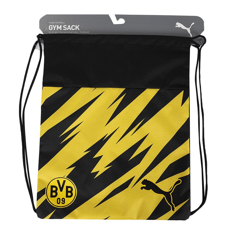 彪马PUMA BVB ftblCore Gym sack 男女 书包运动包抽绳包背包篮球足球包 077658-02